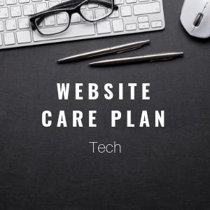 website care plan tech plan